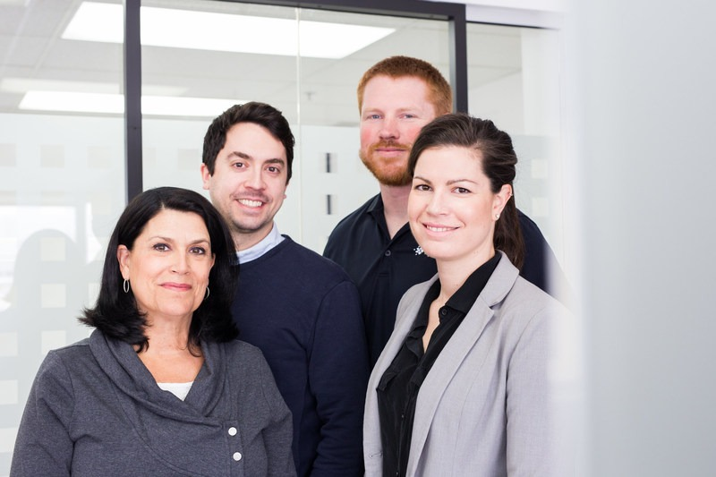 Left To Right: XpertSea Co-founders Sylvie Lavigne (Vice-President), François Robitaille (Head Of Finance), Cody Andrews (Engineer), And Valérie Robitaille (CEO). Photo Courtesy Of XpertSea. (CNW Group/XpertSea)