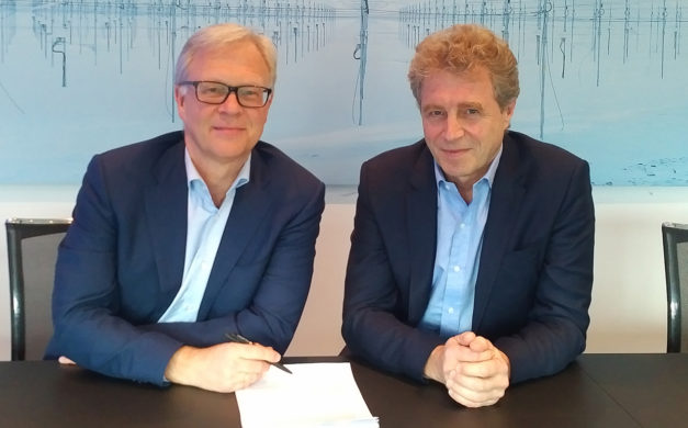 Odd Magne Rodseth, Director Of Aquaculture For EW Group, And Tor Vikenes, CEO Of Norway Fresh